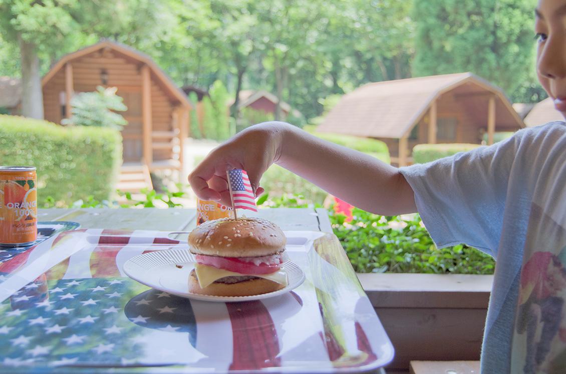 camp and cabins ハンバーガー