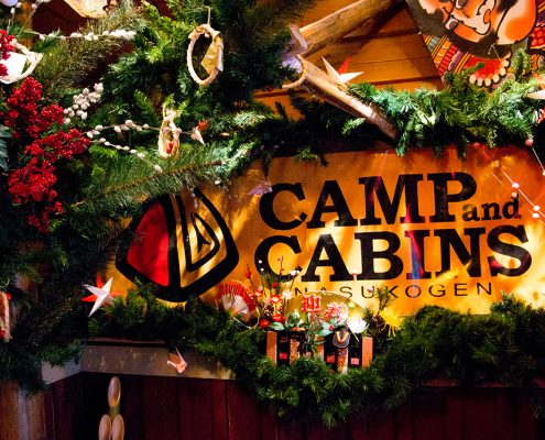 camp and cabins 入り口